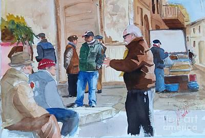 Painting - Licata Piazza by Gerald Miraldi