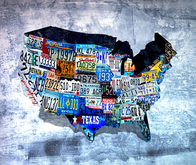 License Plates Of The Usa  Art Print by Brian Reaves