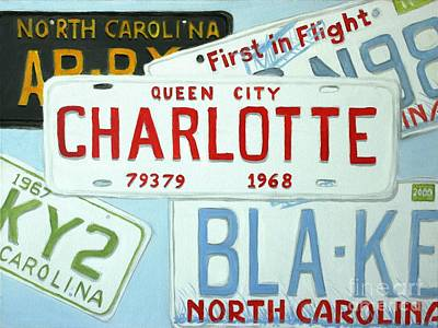 Painting - License Plates by Stacy C Bottoms