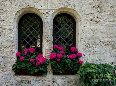 Lichtenstein Photograph - Lichtenstein Castle Arched Flower Windows - Germany by Gary Whitton