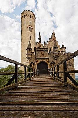 Locked Photograph - Lichtenstein Castle Drawbridge by Marcia Colelli