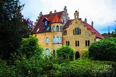 Lichtenstein Photograph - Lichtenstein Castle - Manor House - Germany by Gary Whitton