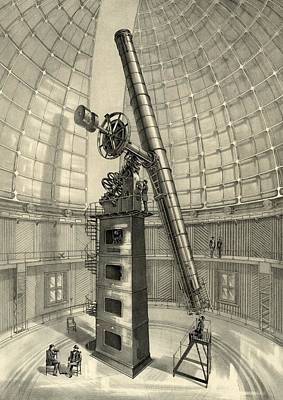 Lick Observatory Photograph - Lick Observatory Telescope, 1889 by Science Photo Library