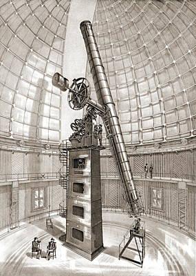 Lick Observatory Photograph - Lick Telescope 1889 by Padre Art