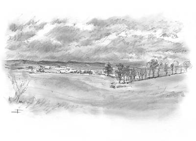 Drawing - Lickey Hills by Paul Davenport