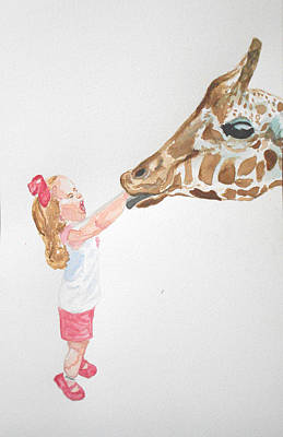 Licking Painting - Licky by Louise Sheehy