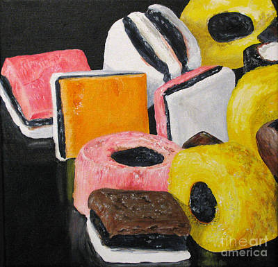 Licorice Candy Art Print by Nancie Johnson