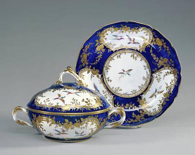 Lidded Bowl And Dish Écuelle Ronde Et Plateau Rond Art Print by Litz Collection