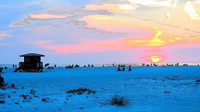 Photograph - Lido At Sunset by Strangefire Art       Scylla Liscombe