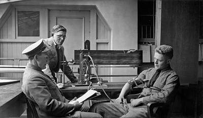 Law Enforcement Photograph - Lie Detector Test by Underwood Archives