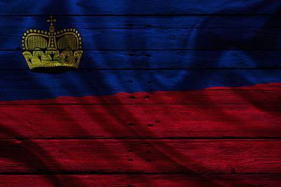 Flag Photograph - Liechtenstein by Joe Hamilton