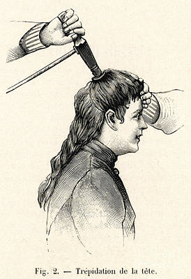 Woman Head Photograph - Liedbeck Vibrator 1901 by Mary Evans