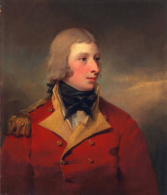 Military Uniform Painting - Lieutenant Andrew Agnew, C.1795 by Sir Henry Raeburn