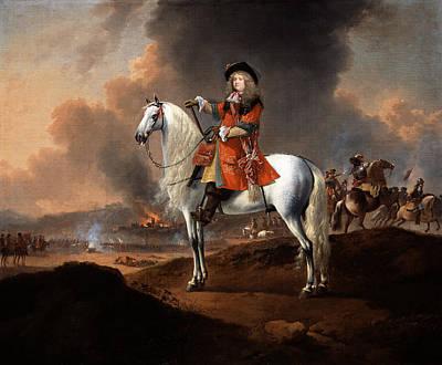 English Riding Painting - Lieutenant-colonel Randolph Egerton Mp by Jan Wyck