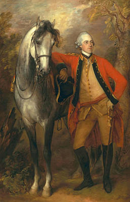 Gray Mare Painting - Lieutenant General Edward Ligonier by Thomas Gainsborough