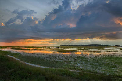 Cape Cod Mass Photograph - Lieutenant Island Sunset by Bill Wakeley