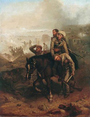 Uprising Painting - Lieutenant William George Cubitt by Chevalier Louis-William Desanges