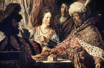 Queen Esther Photograph - Lievans: Feast Of Esther by Granger