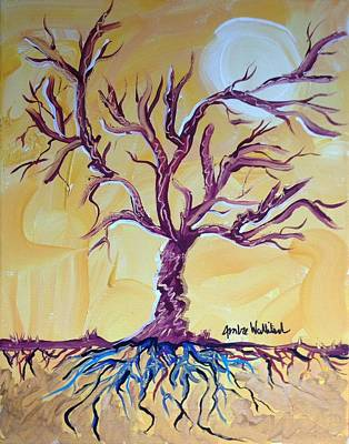 Tree Roots Painting - Life by Ambre Wallitsch