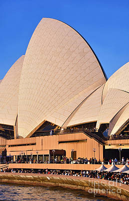 Sydney Opera House Photograph - Life Around The Opera House by Kaye Menner