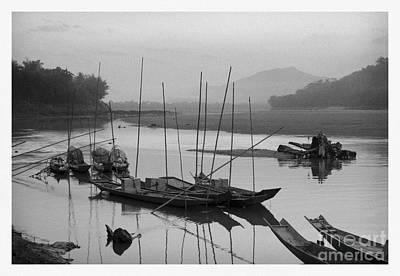 life at Mae Khong river Print by Setsiri Silapasuwanchai