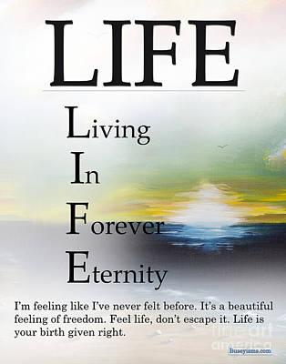 Life Buseyism By Gary Busey Art Print