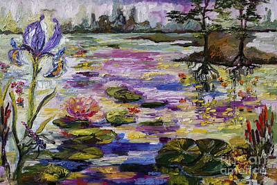 Painting - Life By The Lily Pond by Ginette Callaway