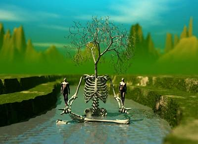 Life Death And The River Of Time Art Print