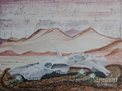 Painting - Life From Death In The Desert by Ian Donley