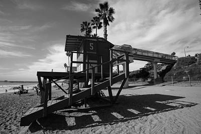 Life Guard Stand Art Print by Paul Scolieri