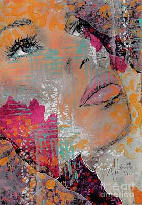 Beautiful Woman Mixed Media - Life Has Layers by P J Lewis