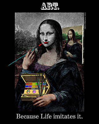 Digital Art - Life Imitates Art by Eric Edelman