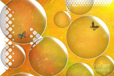 Digital Art - Life In A Bubble   by Liane Wright