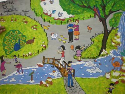 Syeda Ishrat Painting - Life In A Park by Syeda Ishrat