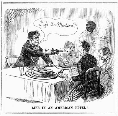 Life In An American Hotel Art Print by Granger