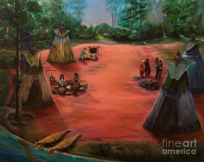 Life In An American Indian Village Original