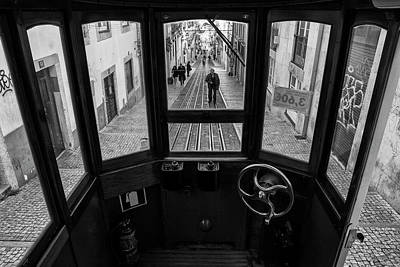 Steering Wheel Photograph - Life In Bica by Luis Sarmento
