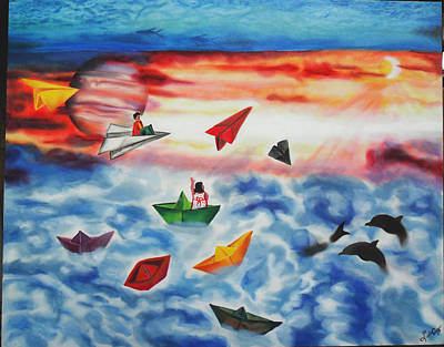 Painting - Life In Dreams by Luis Carlos A