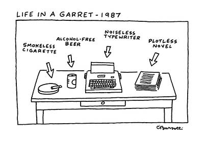 Free Drawing - Life In Garret-1987 by Charles Barsotti