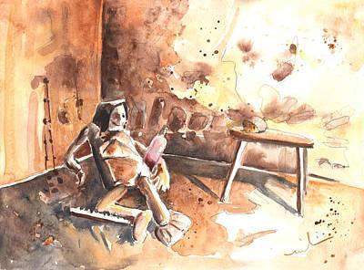 Life In Loket Castle Art Print by Miki De Goodaboom