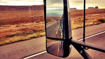 Photograph - Life In My Rearview Mirror by Bill Hamilton