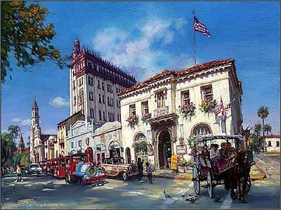 Cao Yong Painting - Life In St Augustine Fl  by Cao Yong