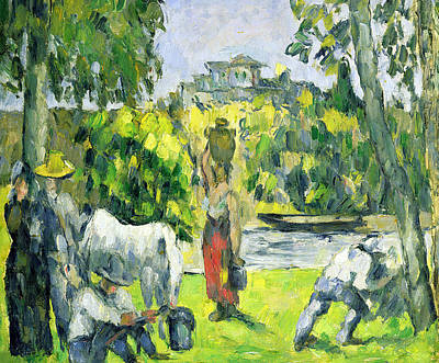 Impressionistic Landscape Painting - Life In The Fields by Paul Cezanne