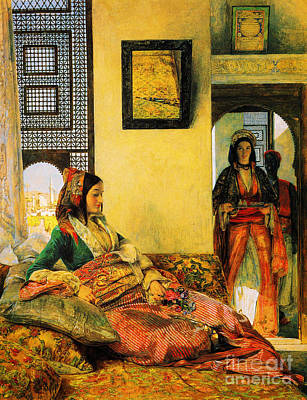 Muslim Artist Painting - Life In The Hareem Cairo by Celestial Images
