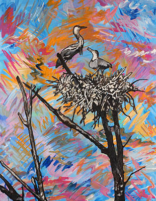 Painting - Life In The Nest by Julianne Hunter