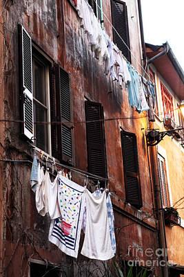 Life In Trastevere Art Print by John Rizzuto