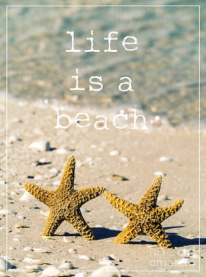 Life Is A Beach Print by Edward Fielding
