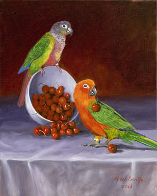 Painting - Life Is A Bowl Of Cherries by Karen Wilson