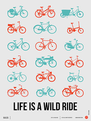 Amusing Digital Art - Life Is A Wild Ride Poster 2 by Naxart Studio
