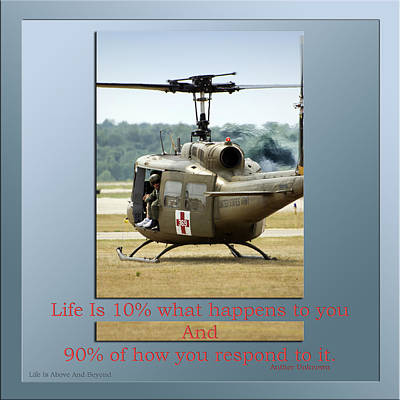 Helicopter Mixed Media - Life Is Above And Beyond by Thomas Woolworth